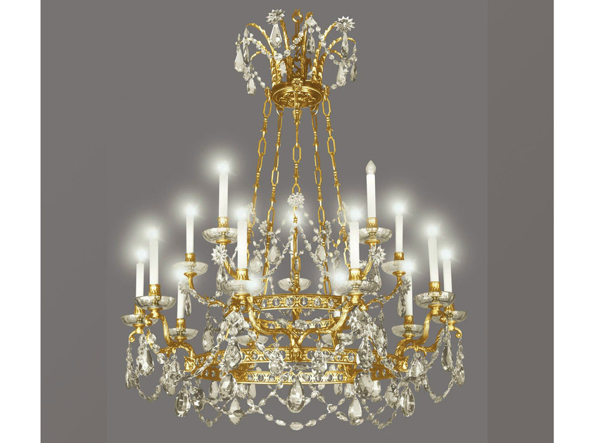 Bronze chandelier 14431 | Chandelier - Tisserant
