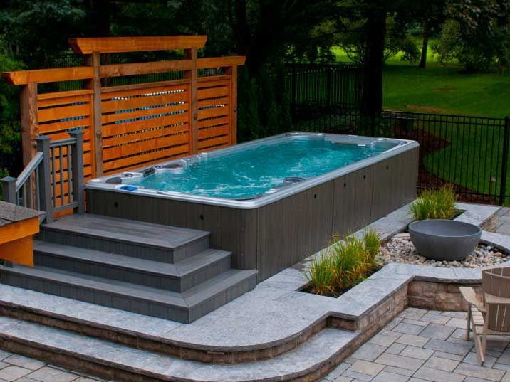 14fx spa de nage by clair azur. Black Bedroom Furniture Sets. Home Design Ideas