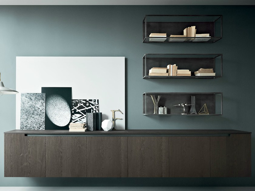 Wall-mounted storage wall FIFTY | Composition 06 - Zampieri Cucine
