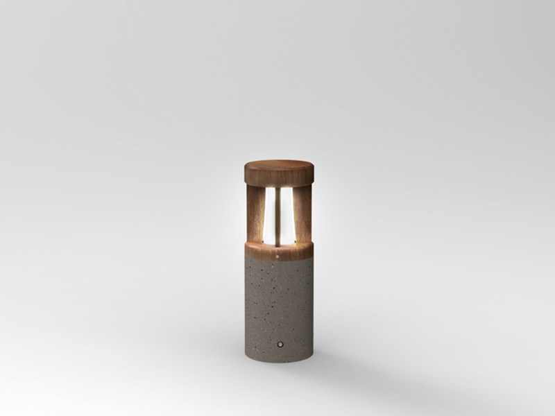 Cement bollard light PIPEWOOD 50 by Lombardo