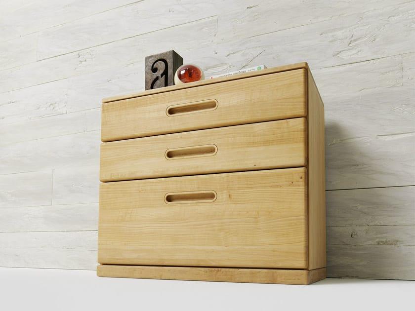 Alder bedside table with drawers for kids' bedroom BABY | Bedside table - TEAM 7 Natürlich Wohnen