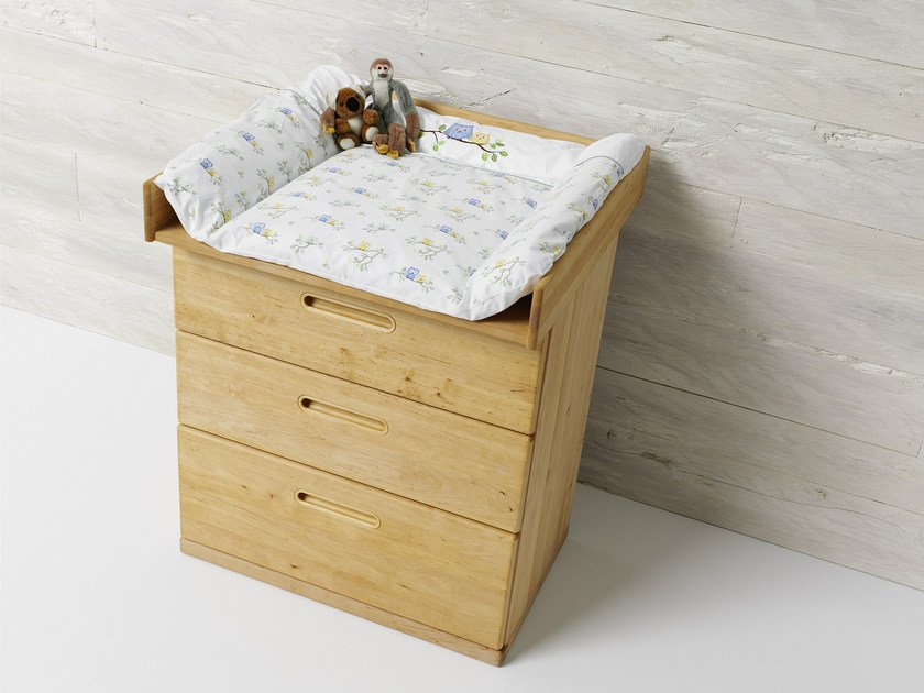 Alder changing table with drawers BABY | Changing table - TEAM 7 Natürlich Wohnen