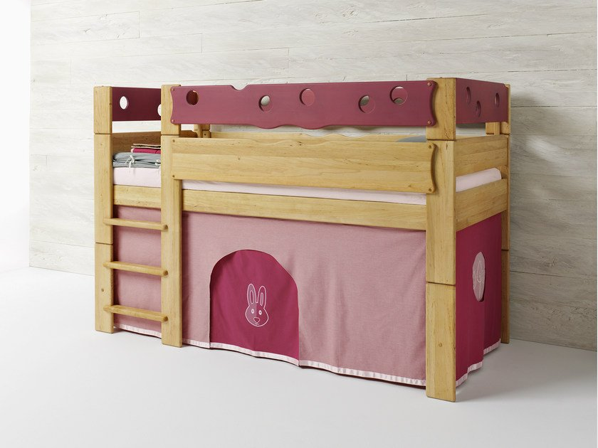 Loft alder bed for kids' bedroom RABBIT - TEAM 7 Natürlich Wohnen