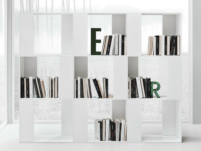 Open freestanding bookcase LINE K | Bookcase - Zampieri Cucine