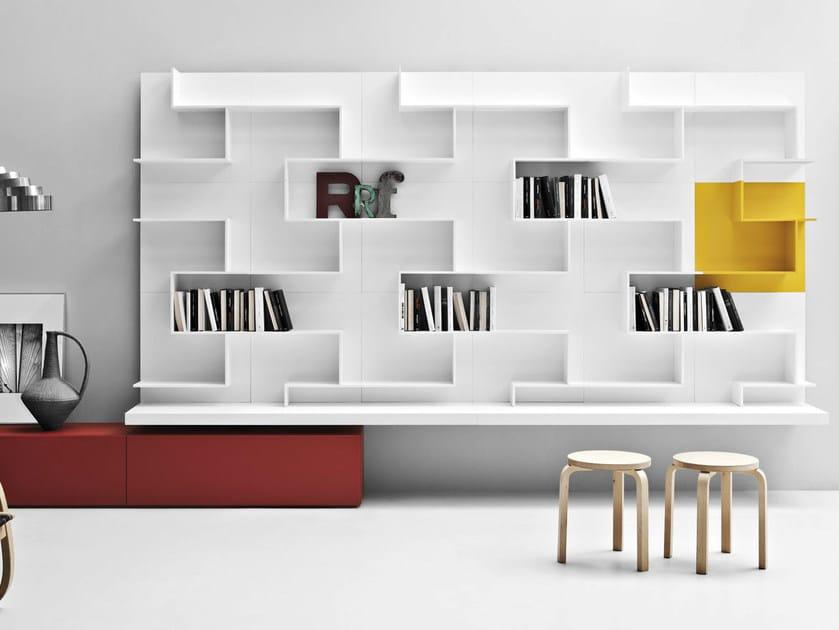 Wall-mounted storage wall LINE K | Storage wall by Zampieri Cucine