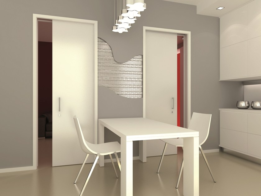 Counter frame for opposite sliding doors BI-LATERAL by PROTEK®
