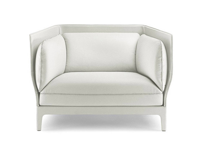 Armchair with armrests ALONE | Armchair - Poltrona Frau