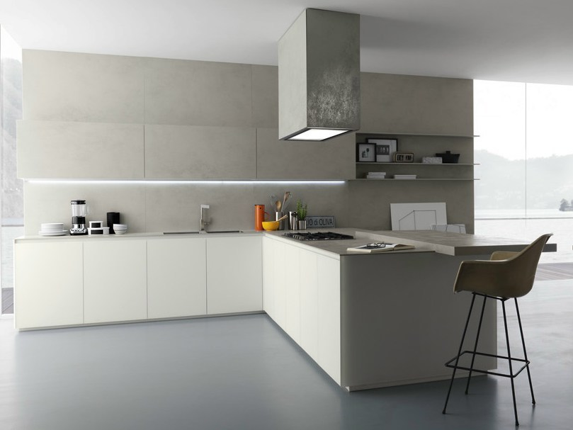 Glasstone kitchen by zampieri cucine design stefano cavazzana for Cuisine taupe