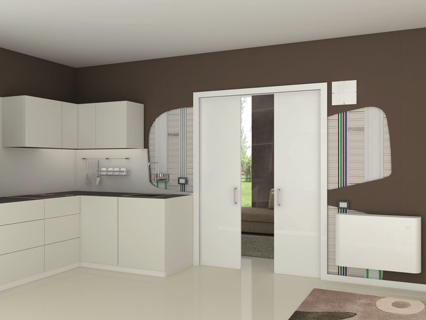 Counter frame for double sliding doors MAGIC BOX® DOMOTIKA DOUBLE - PROTEK®