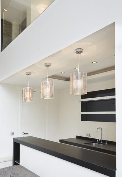 Steel pendant lamp ELLIPSE N°12 by Thierry Vidé design