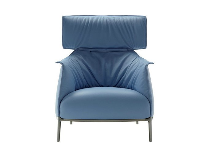 Leather armchair with headrest ARCHIBALD | Armchair with headrest - Poltrona Frau