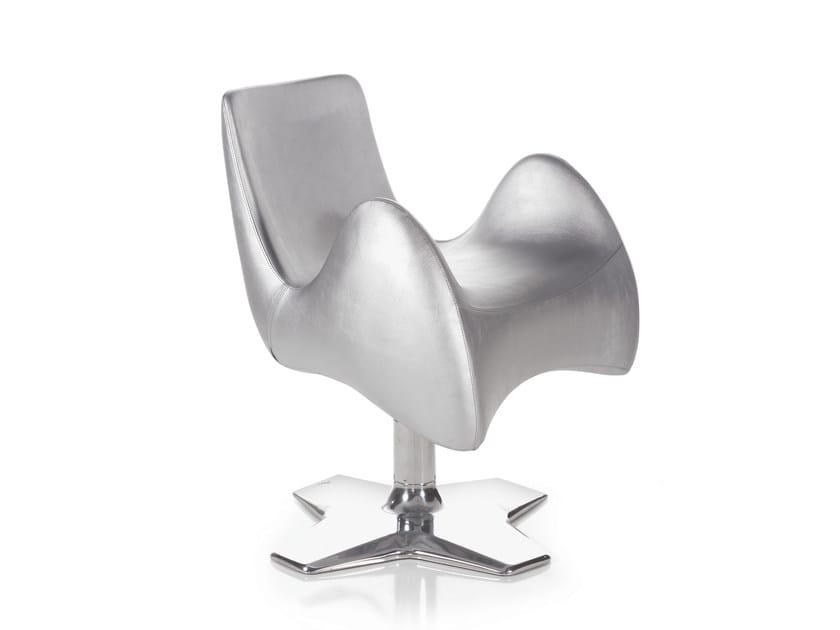 Swivel upholstered easy chair with armrests ALIEN - OUTSIDER