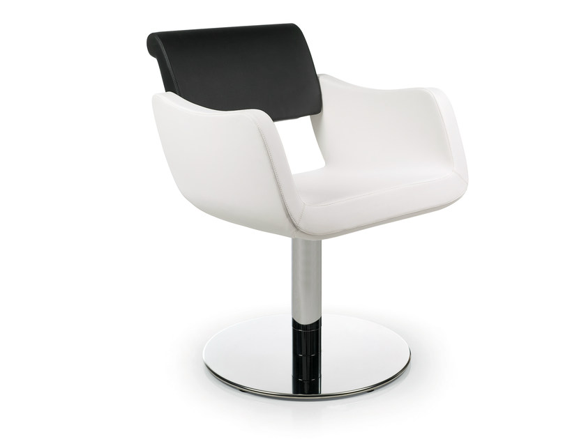 Swivel upholstered chair with armrests CLEASIA - OUTSIDER