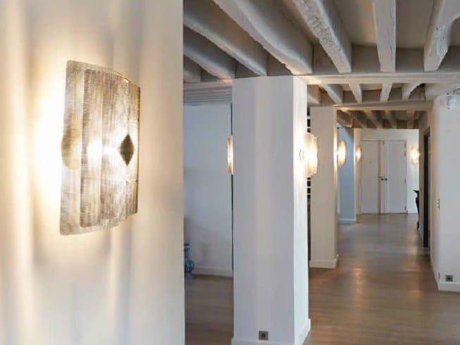 Halogen steel wall light RECTANGLE N°10 - Thierry Vidé design