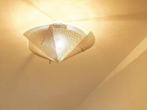 Stainless steel ceiling light ÉTOILE N°20 - Thierry Vidé design