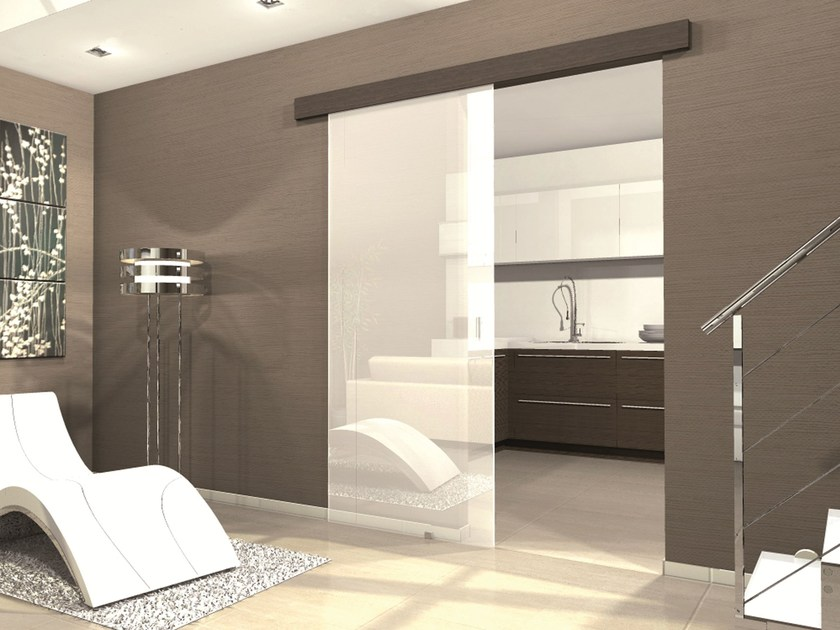 Controtelaio per porta scorrevole esterno muro kit glassy - Porta scorrevole esterna muro ...