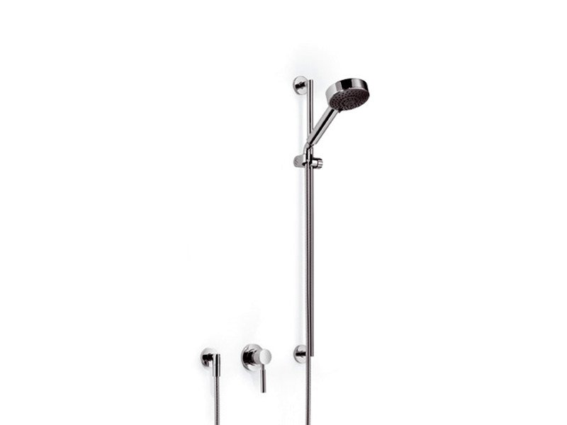 Shower wallbar with hand shower with mixer tap TARA.LOGIC | Shower wallbar by Dornbracht