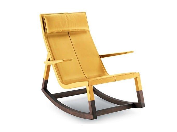 Rocking armchair DON'DO - Poltrona Frau