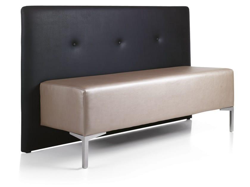 Imitation leather small sofa YOGI 2 - OUTSIDER