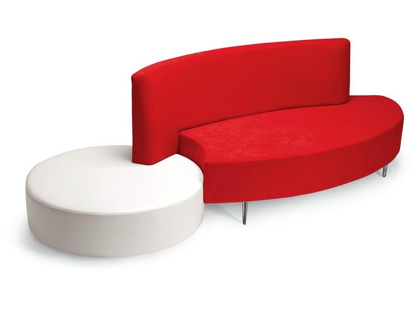 2 seater imitation leather sofa MERIDIAN | 2 seater sofa - OUTSIDER