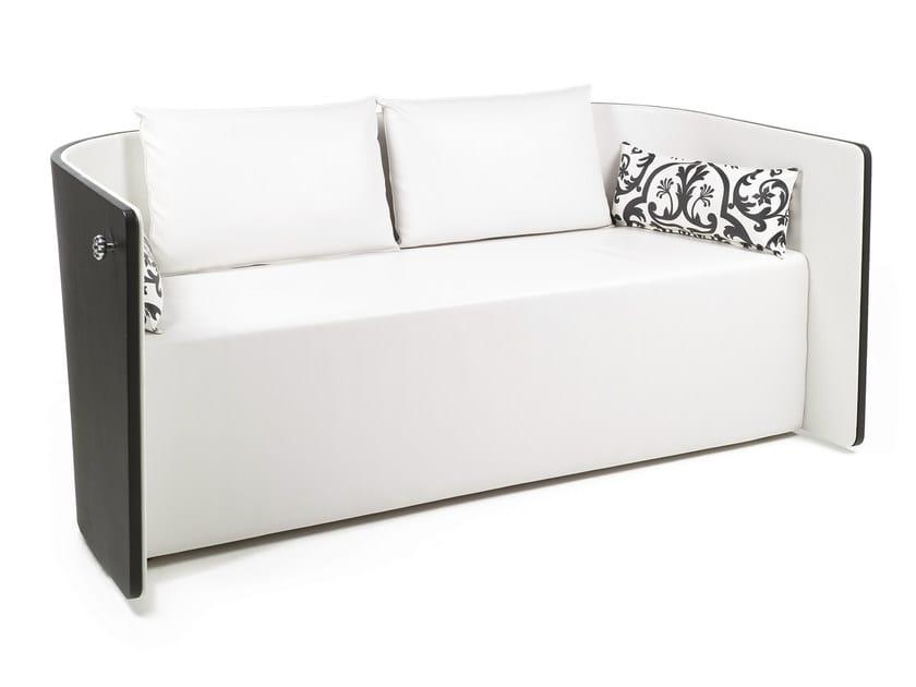 2 seater imitation leather sofa MARIE-JEAN - OUTSIDER