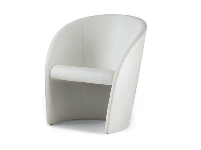 Leather easy chair INTERVISTA by Poltrona Frau