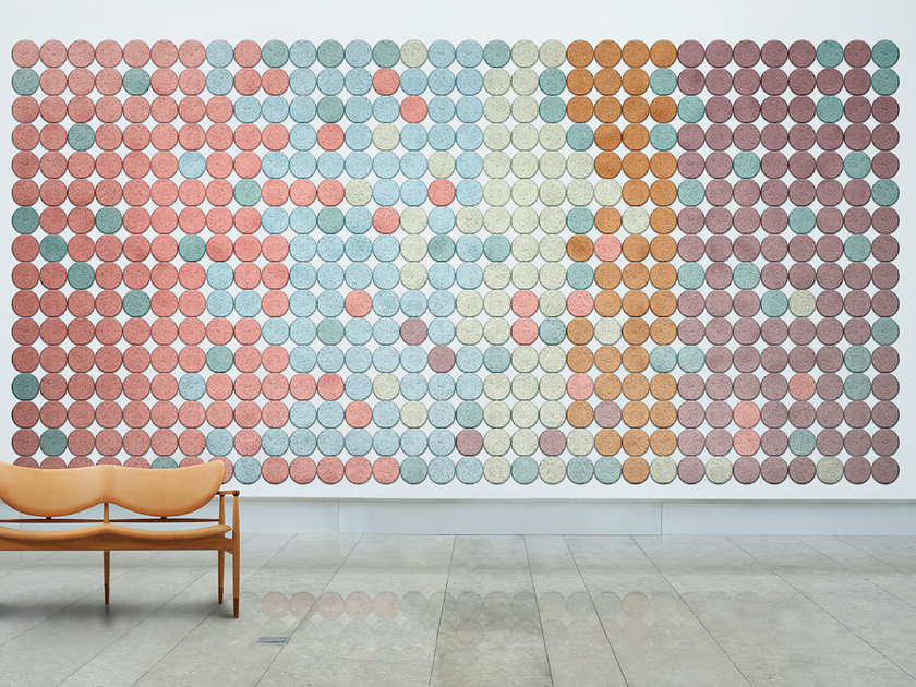Acoustic Wood Wool Tiles BAUX ACOUSTIC TILES CIRCLE - BAUX