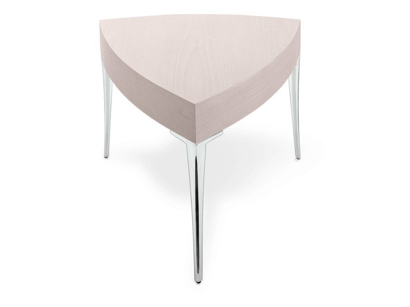 Low lacquered triangular coffee table ELIPS - OUTSIDER