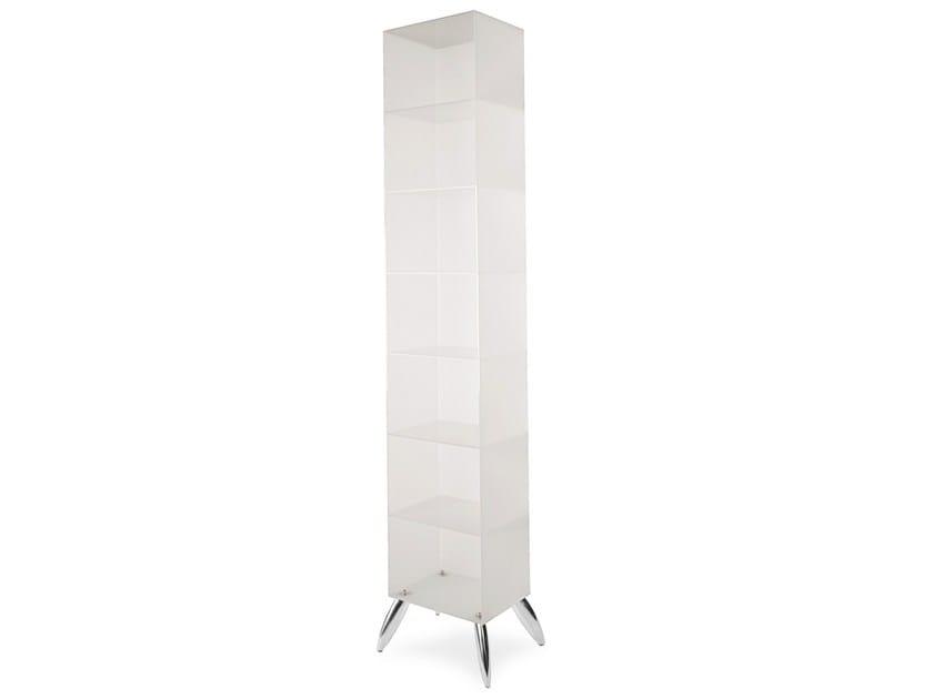 Freestanding plexiglass bookcase LIBRARY - OUTSIDER