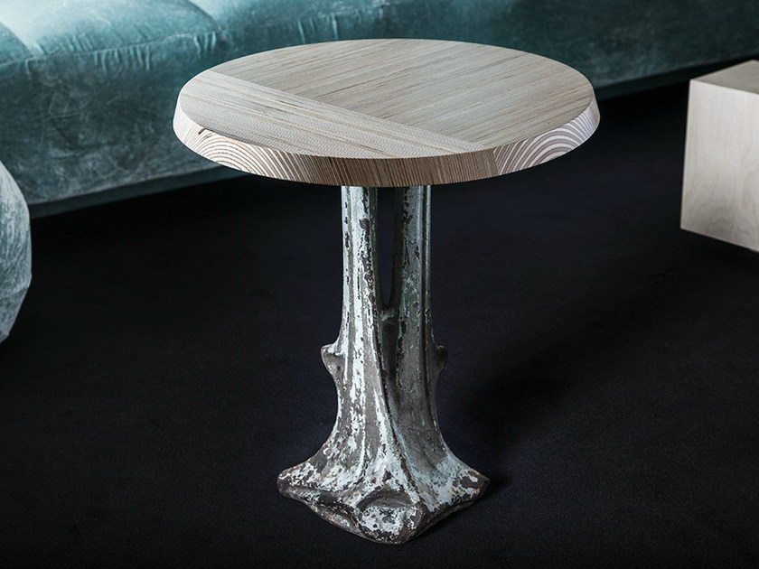 Round multi-layer wood coffee table GUÉRIDON GUIMARD - MALHERBE EDITION