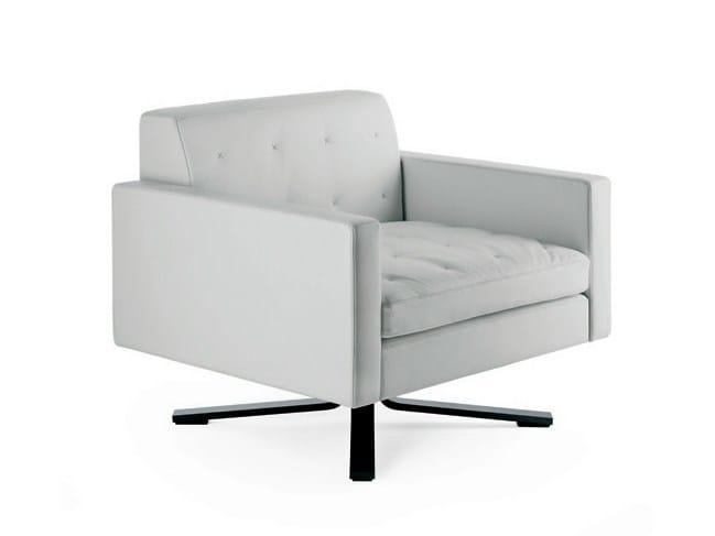 Armchair with 4-spoke base KENNEDEE | Armchair - Poltrona Frau