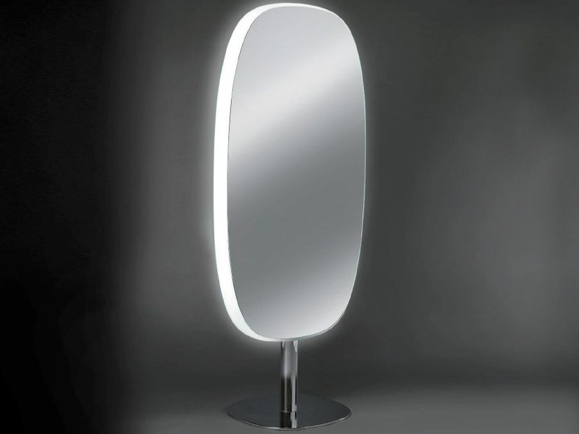 Double-sided oval mirror with integrated lighting URBAN DOUBLE FACE by OUTSIDER