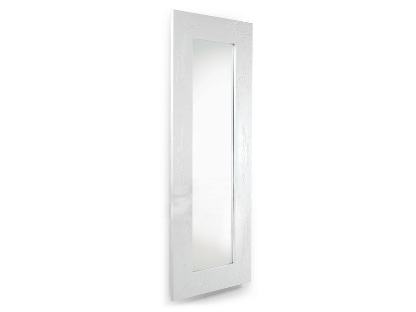 Rectangular wall-mounted framed mirror FLOREO - OUTSIDER