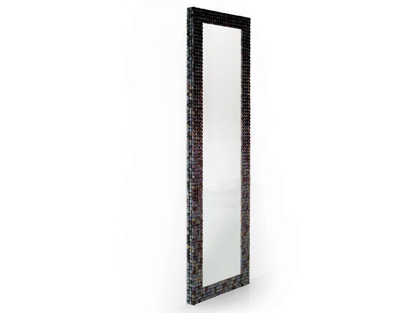Rectangular wall-mounted framed mirror MOSAIQUE - OUTSIDER