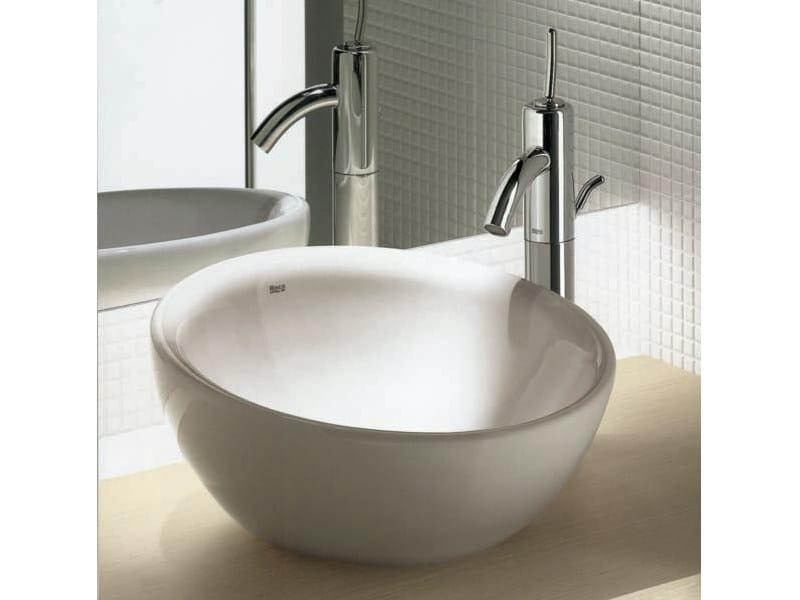 Chrome-plated 1 hole washbasin mixer ATAI   1 hole washbasin mixer - ROCA SANITARIO