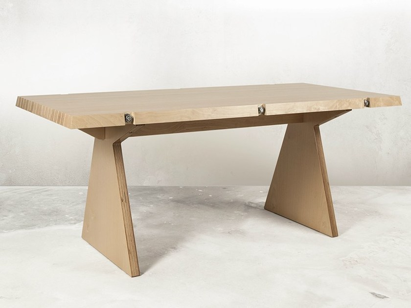 Rectangular multi-layer wood table NAPOLÉON | Table by MALHERBE EDITION