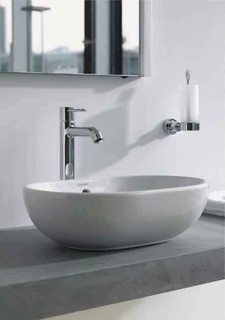 Lavabo da appoggio ovale in ceramica foster lavabo duravit - Lavandini da appoggio bagno ...