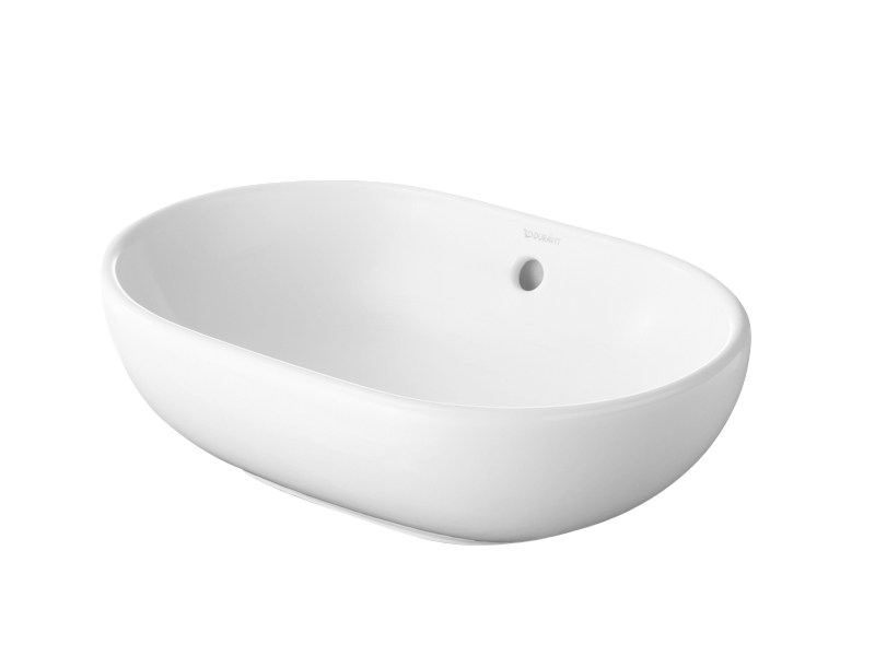 Vasque poser ovale en c ramique foster by duravit italia design norman fo - Vasque a poser duravit ...