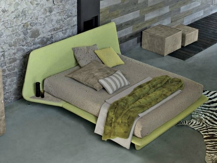 Fabric double bed RAMSES | Bed - Twils