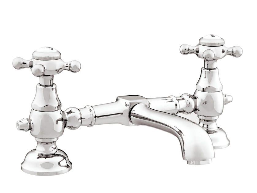 Chrome-plated 1 hole washbasin tap with polished finishing 035008.000.50 | Washbasin tap - Bronces Mestre