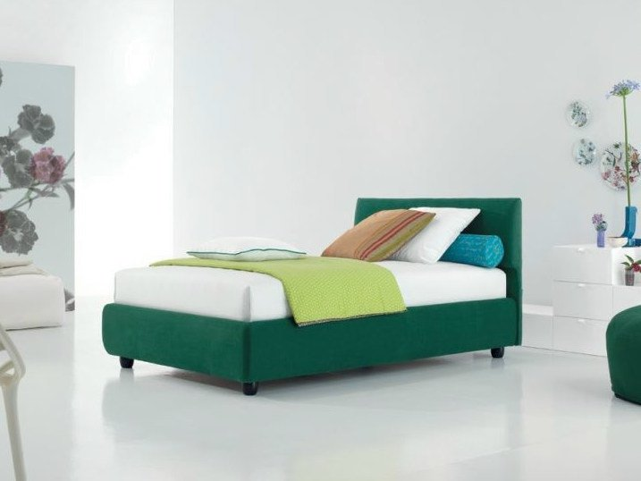Fabric storage bed DYLAN | Storage bed - Twils