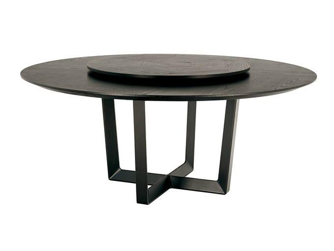Round table with Lazy Susan BOLERO | Table with Lazy Susan - Poltrona Frau