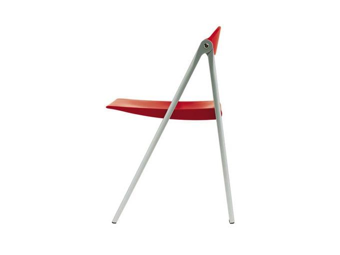 Folding die cast aluminium chair DONALD | Folding chair - Poltrona Frau