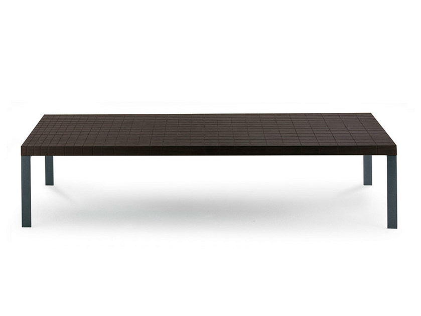Rectangular wenge coffee table GEOMETRIE | Rectangular coffee table by Poltrona Frau