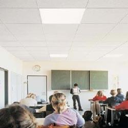 Ecological mineral fibre ceiling tiles MATERIAL & DESIGN SUPERFICI - Knauf AMF Italia Controsoffitti