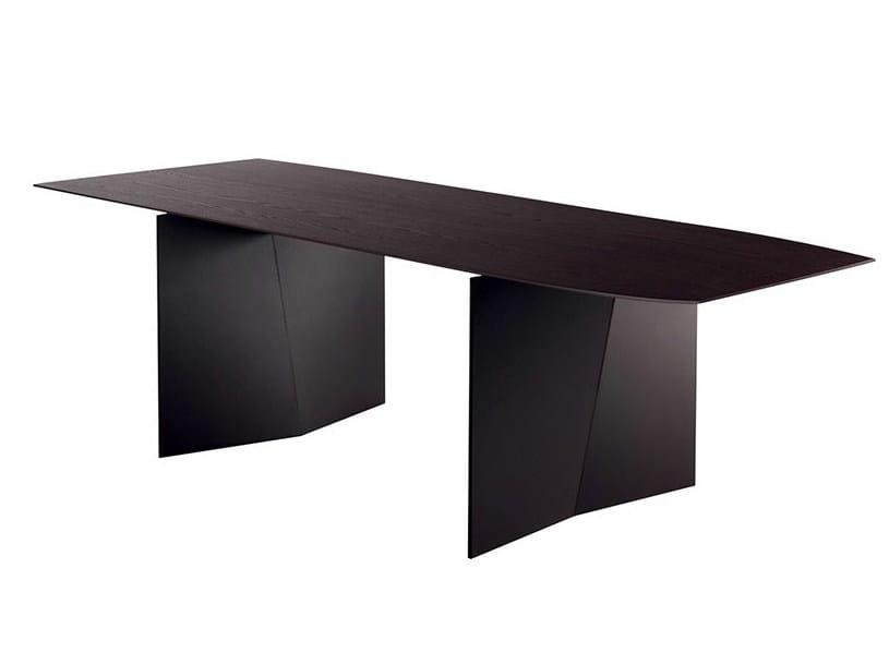 Rectangular ash table PALIO | Rectangular table - Poltrona Frau