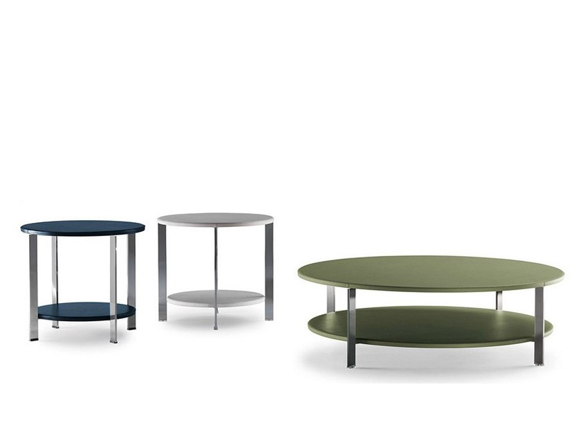 Round coffee table REGOLO by Poltrona Frau