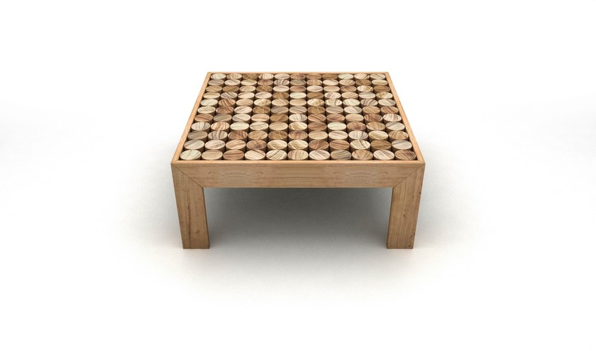 Low square solid wood coffee table SOFIA | Side table - mg12
