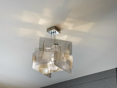 Stainless steel pendant lamp CUBE | Pendant lamp - Thierry Vidé design