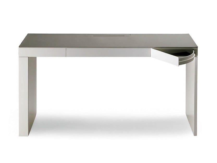 Writing desk with drawers SEGRETO - Poltrona Frau